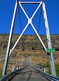 Desert Bridge. Steel bridge over the Deschutes River arm of Lake Billy Chinook in The Cove Palisades State Park - near Culver, OR stock photography