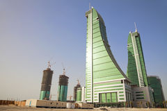 Desert Buildings, Manama, Bahrain Royalty Free Stock Photos