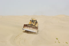 Desert bulldozer Stock Image