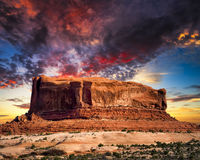 Desert Butte in Utah Stock Images