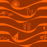 Desert and cactus vector Royalty Free Stock Photography