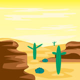 Desert and cactuses Royalty Free Stock Photos