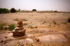 Desert Cairn Royalty Free Stock Images
