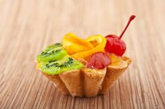 Desert cake with fruits Royalty Free Stock Photography