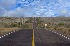 Desert californian road Royalty Free Stock Images