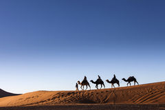 Desert, Camel Ride, Enjoying and Happy People Stock Photo