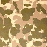 Desert camouflage pattern. On leather background Stock Photography