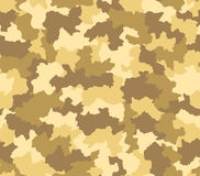 Desert camouflage seamless pattern Stock Photos