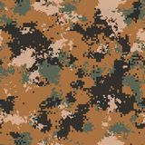 Desert Camouflage. Seamless Tileable Texture. Stock Photography