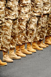 Desert camouflage uniform Royalty Free Stock Photos