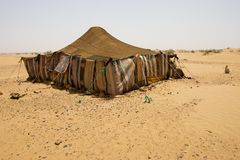 Desert Camp. The bedouins tent in the sahara, morocco Royalty Free Stock Images