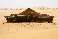 Desert Camp. The bedouins tent in the sahara, morocco Stock Photography