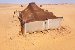 Desert Camp. The bedouins tent in the sahara, morocco Stock Images