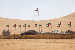Desert camp in Liwa Oasis Stock Photos
