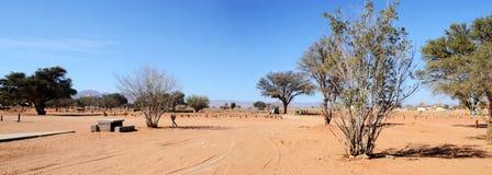 Desert Camp in Namib. Near Dune 45, Africa Stock Images