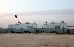 Desert camp in Qatar, Middle East Royalty Free Stock Photography