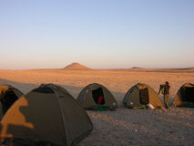 Desert camp site Royalty Free Stock Images