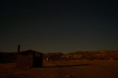 A Desert Campground at Night Stock Images