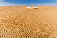 Desert camping. Sharqiya / Wahiba Desert, Sultanate of Oman Royalty Free Stock Images