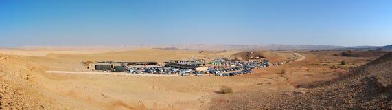 Desert Campsite Panorama, Israel Stock Image