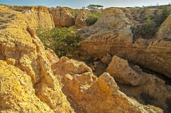 Desert Canyon. Looking out of a canyon in La Guajira, Colombia Stock Photo