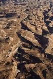 Desert canyon aerial. Stock Photo