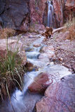 Desert Canyon Stream and Waterfall Stock Photography