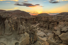 Desert canyon summer sunset landscape. Royalty Free Stock Photos