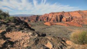 Desert Canyon View Dolly Shot stock video