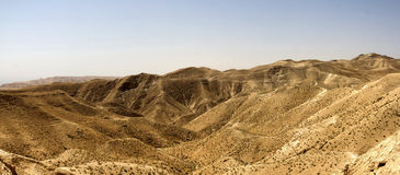 Desert canyon of Wadi Kelt Royalty Free Stock Images