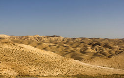 Desert canyon of Wadi Kelt Stock Images