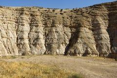 Desert canyon of Wadi Kelt Stock Photos