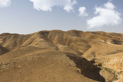 Desert canyon of Wadi Kelt Stock Image