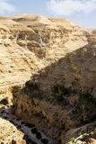 Desert canyon of Wadi Kelt Stock Photography