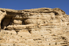 Desert canyon of Wadi Kelt Royalty Free Stock Photography