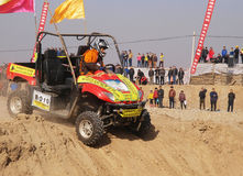 Desert car race Royalty Free Stock Images