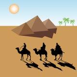 Desert caravan Stock Image