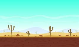 Desert cartoon game background Stock Photo