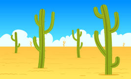Desert Cartoon Landscape Royalty Free Stock Photography