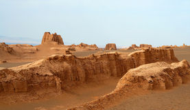 Desert Castles. Sand castles in the remote iranian desert royalty free stock photography
