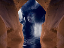 Desert Cave Stock Photo