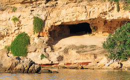 Desert cave. Stock Photo
