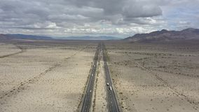 Desert center California to Arizona stock video