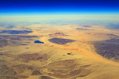Desert Center from top Royalty Free Stock Photos