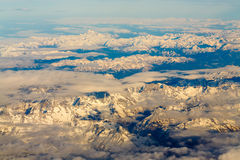 Desert chain of mountains Royalty Free Stock Images