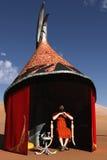 Desert chieftain in desert pavilion Stock Photos