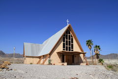 USA, California/Shoshone:  Church Royalty Free Stock Images