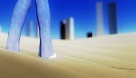 Desert city Royalty Free Stock Photo