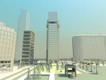 Desert city panorama Stock Photos