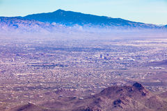 Desert city of Tucson in southern Arizona USA Royalty Free Stock Images